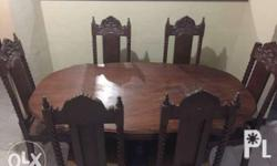 Narra Dining Set of 6 slightly negotiable for pickup