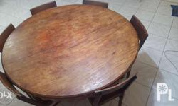 NARRA antique table with 6 NARRA antique chairs. 52
