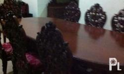 Selling our narra dining set 8 seater with oval table.