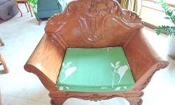 Beautifully carved Narra SOLID furniture set in