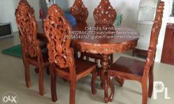 NARRA dining set 6 seater 55k NARRA celebrity salaset