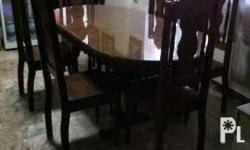 Oval Narra Table with (6)chairs Address-634 Aquarius st