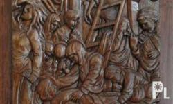 Carving on narra hardwood by Argentinian sculptor Nico
