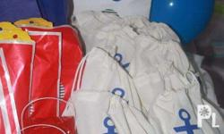 Best for nautical themed parties. Canvass bags.