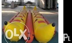 12 seats double tubes inflatable banana boat,