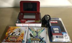 Package Includes: - New 3DS XL (red)* - Complete box /