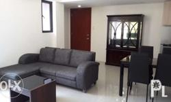Brand new semi-furnished condo with 24-hrs security.