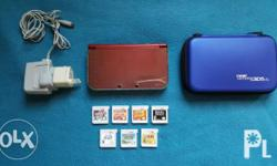New Nintedo 3ds xl With games, charger, hori tpu case,