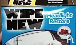 Headlight restoration kit For a brighter and safer
