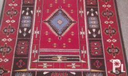 Very nice colorful carpet. Weight: 2100gr/m2