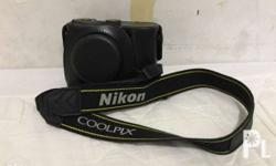 Nikon coolpix P7700 with leather pouch cover original