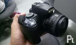 Nikon d3000 with 50mm - 1:1.8d lens With charger Uv