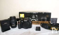 Selling my slightly used Nikon D3100 with 18-55mm kit