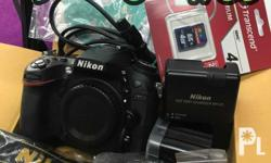 For sale: - Nikon d7100 body with: Battery, charger,