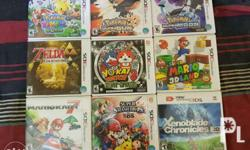 For sale 3DS games all in very good condition. Good as