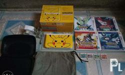 Nintendo 3ds Pikachu edition with charger and