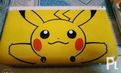 Nintendo 3ds XL Pikachu edition with pokemon x and y,