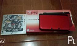 3Ds XL comes with box and manual and 1 game (Fire