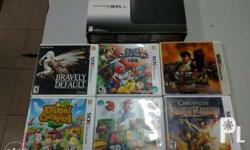 Selling my 3DS XL and 6 games for 9,500 neg. Complete