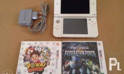 For sale New Nintendo 3DS XL (Pearl White) with free