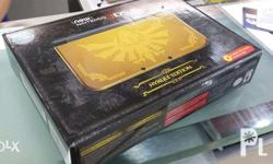 Package: New 3ds XL Hyrule edition gold Unit with