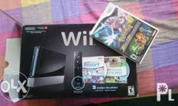 nintendo wii complete with box 3 games 1 controller