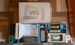 Nintendo Wii complete set w/ purchase receipt for sale