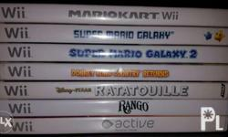 Nintendo Wii games. Some are unused / Brand new. Some