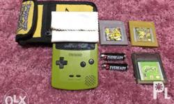 It includes a carrying case // 2 double a batteries //