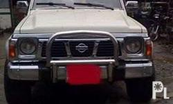I'm selling a Nissan Patrol '94. 4x4 with dual