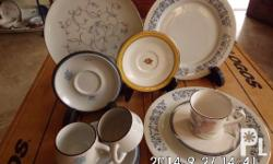 Noritake plates, cups & saucers from Japan:   1pc.