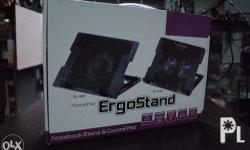"""Notebook Stand and Cooling Pad - For 9"""" to 17"""" Laptops"""