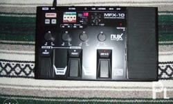 NUX MFX-10 guitar processor can be used for keyboards