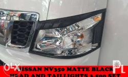 nissan urvan nv350 matte black head and taillight