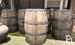 Original oak barrel. 1 set table and chairs - 25,000