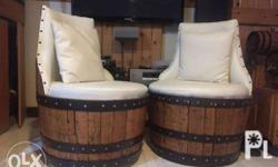 Customized authentic barrel sofa chair with
