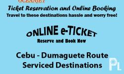 OceanJet Cebu-Dumaguete Route Ticket Reservation and