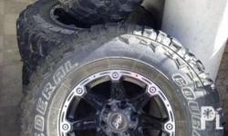 Slightly used (3 weeks only) Off-Road tires and Mags,