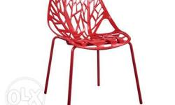 Material: Plastic Back & Seat: Plastic Frame: Silver