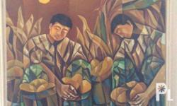 A Butuanon artist painted this oil painting. It shows
