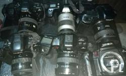 Forsale my old cameras As is were is 6 pcs all in 2500