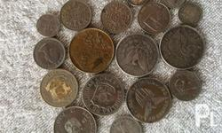 For sale old coins and paper bills! Foreign and