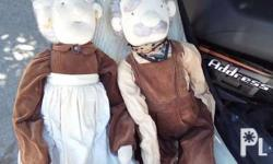 Old grannies doll with cloth stains. Pickup carmona or