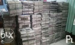 old news paper 30 pesos per kilo contact my number. Ito