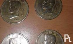 3 pcs. 1972 & 1pc. 1974 1 peso coins. Just offer me