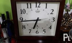 Old Wall Clock Brand: Citizen Battery: AA