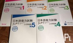 Japanese Language Proficiency Official Workbooks N5-N1