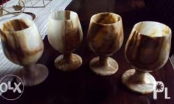 Wine marble glass sets of 4,Set for candle light.set of
