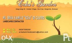 ecka's garden is offering you a landscape, supplies of