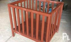 Solid Wood Ordinary Crib with Paint 70cmx80cm 3 item